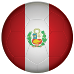 Peru Football Flag 25mm Button Badge
